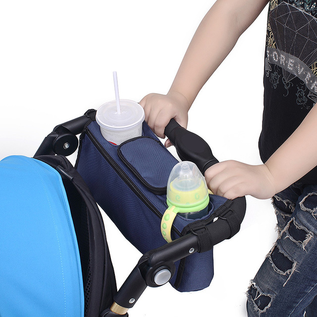 Cochecito de bebé Portátil Taza Juguetes Bolsas Venta Caliente Conveniente Bebés Cochecito Organizador de Almacenamiento de Alimentos De Almacenamiento Taza Bolso B0010