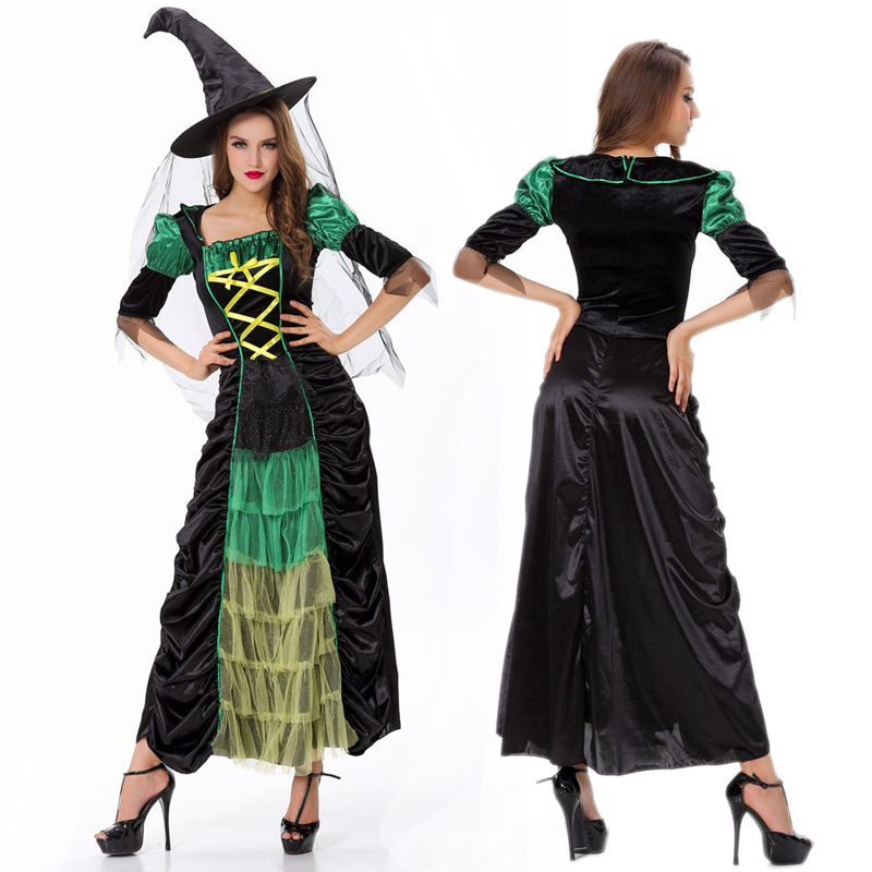 Fantasias Sexy Witch Costumes For Women Adults Wonder -7523