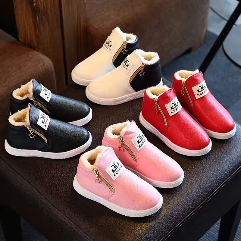 Girls Boys Casual Shoes Elsa Shoes kids rubber Boots PU Leather children shoes Zip Walking Running Shoes Winter Spring Snow Boot фоторамка коллаж moretto 138031