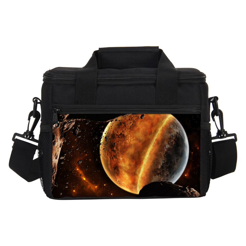 VEEVANV Thermal Lunch Bag Women Food Lunch Box Picnic Cooler Bag Insulated Storage Container Bag Starry Sky Printing Ice Pack