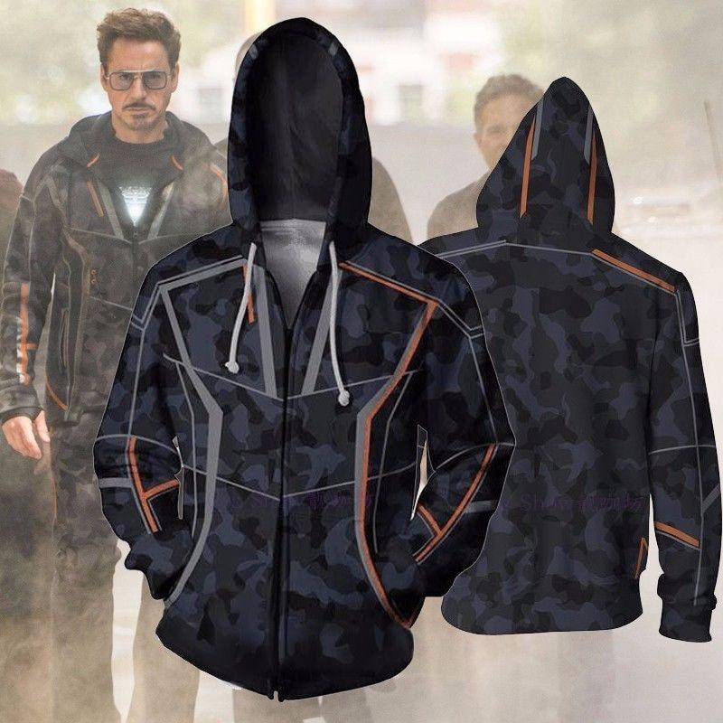 Takerlama Avengers 3 Infinity War Iron Man Tony Stark 3D Printed Hoodies Hooded Unisex Long Sleeve Pullover Cosplay Sweatshirt