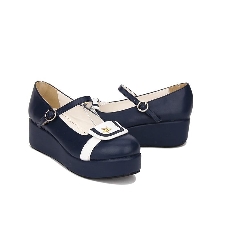 Profonde Éponge Populaires Doux De Lolita Femmes Punk Ronde Made Tête Custom Marine Bleu Princesse Pu8965 Original Chaussures Et q6OI11