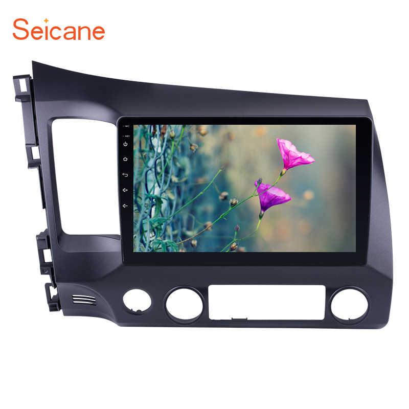 Seicane 2Din Android 9.0 10.1 cala Radio samochodowe dla Honda Civic 2006 2007 2008 2009 2010 2011 GPS Tochscreen odtwarzacz multimedialny