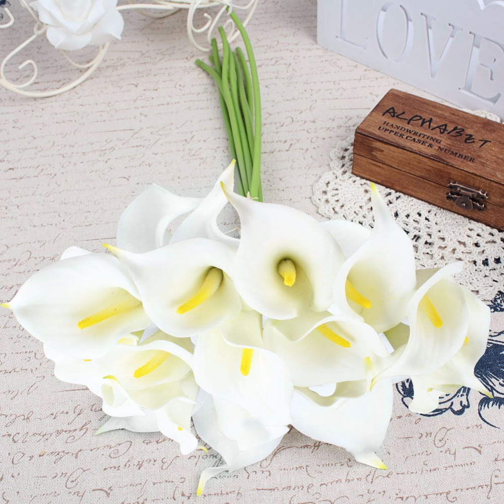 Real touch artificial flowers wedding decorative flowers calla lily real touch artificial flowers wedding decorative flowers calla lily fake flowers izmirmasajfo