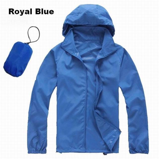 Hot Spring Summer Waterproof Wind Coat Lovers Rain Jacket Men Jacket Mujer Quick-Dry Cycling Ultra Light Sport Jacket Women