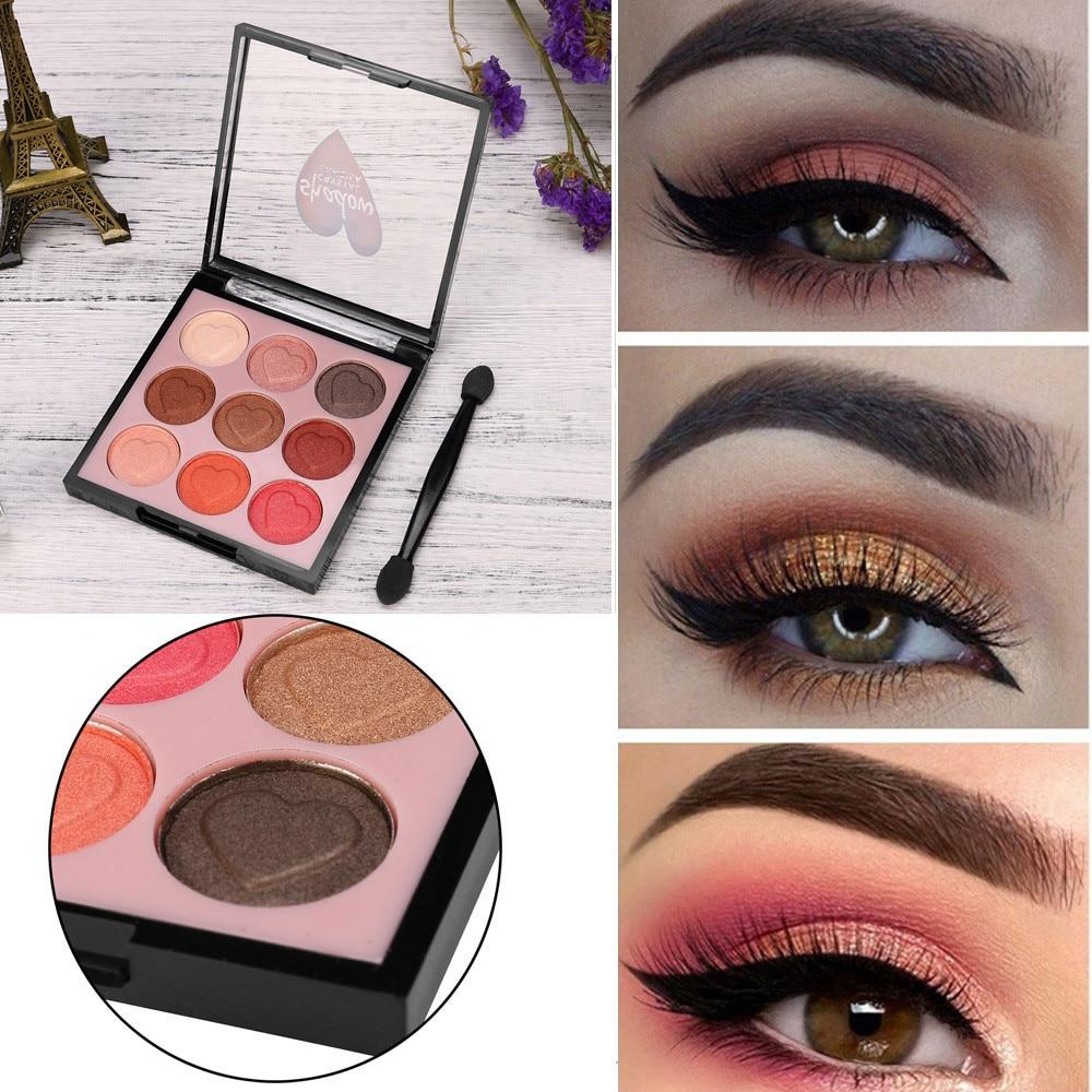 Beauty Essentials Eye Shadow New Professional Womens Fashion 9 Color Pearl Glitter Eye Shadow Powder Palette Matt Eyeshadow Cosmetic Makeup Drop Shipping Skillful Manufacture