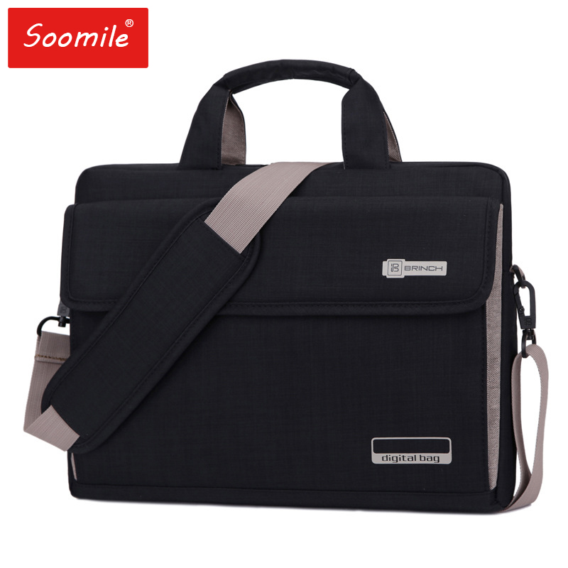 NEW  6 Colors Big Capacity Nylon 13.3 14 15.6 Inch Laptop Bag Briefcases Protective Case Cover Bags B