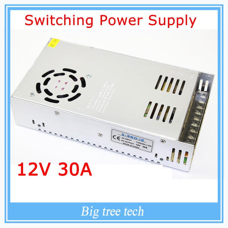 Prix pour 12 V 30A 360 W alimentation à découpage adaptateur led transformateur lumière de bande 12 v pour imprimante 3d
