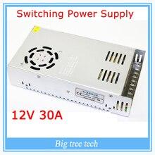 12 В 30A 360 Вт адаптер импульсный источник питания светодиодные полосы света трансформатора 12 В для 3d-принтер