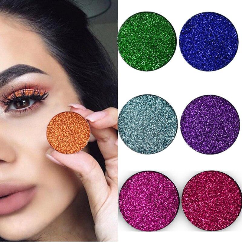 Pressed Glitter Eye Shadow Single Eyeshadow Makeup Glitter Eyeshadow Make Up Cosmetic Pigment Maquiagem Profissional Completa