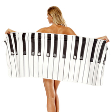 New Piano Printing Wearable Bath Towel Bathroom Super Absorbent Quick-drying Beach Towel Outdoor Adult Women Home Bath Towels big size printing bath towel bathroom super absorbent quick drying beach towel yoga spa outdoor adult women man movement towels