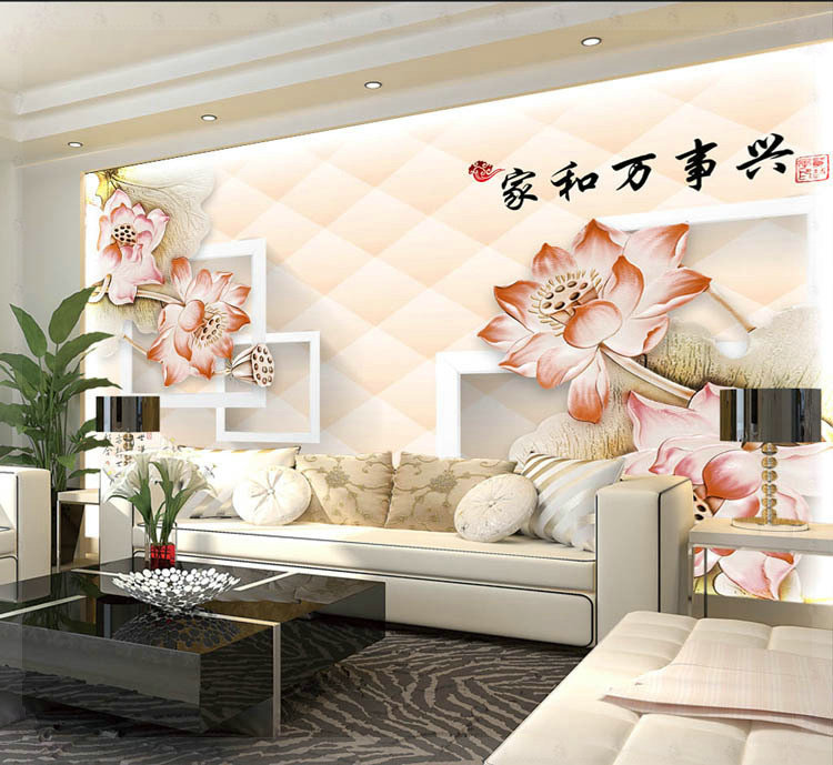 Under One Roof Design Of Modern Household Wall Paint Murals Background Wallpaper With High Cold Water Wallpaper Border Paint Abstractpaint Wallpaper Aliexpress