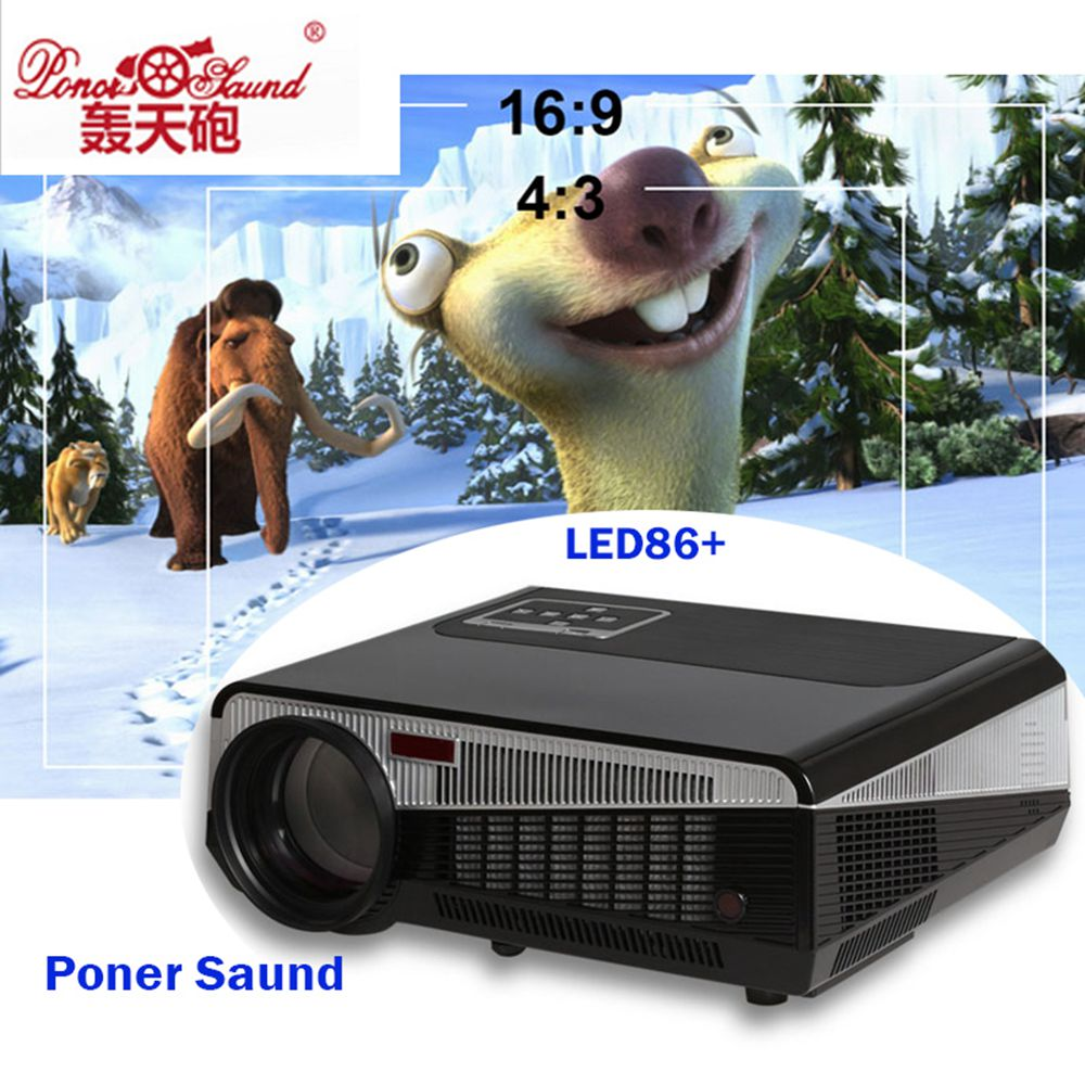 Poner Saund Full Hd New Mini Projector Proyector Led Lcd: Poner Saund 5500 Lumens LED86+ Projector Full Hd