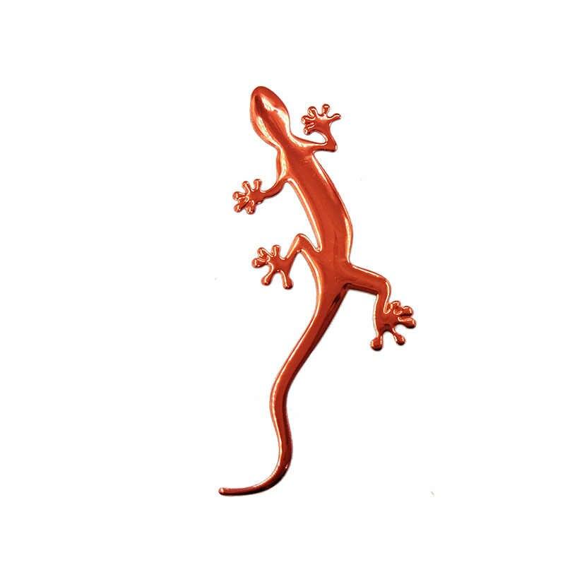 Kertenkele Gecko komik 3D araba etiket yumuşak PVC krom rozet amblem sticker araba dekorasyon otomobil çıkartmaları araba-şekillendirici aksesuar