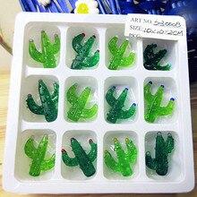 12pcs Munuola Custom Handmade Glass Figurine Easter cactus fairy garden decoration micro landscape art glass statue accessories