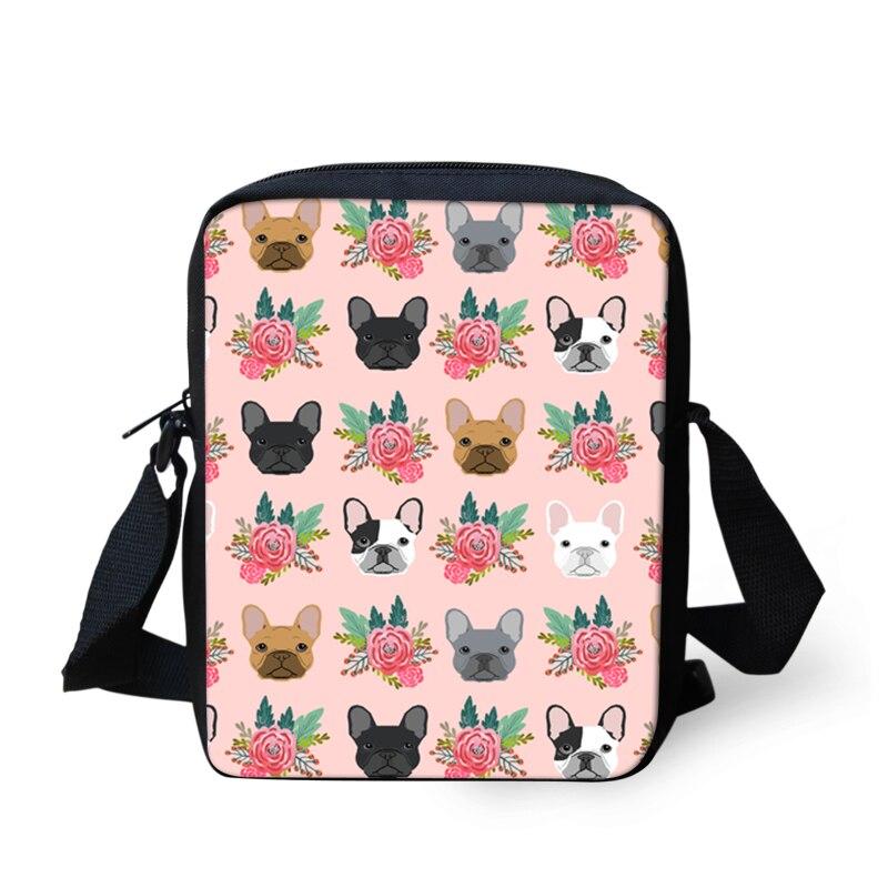 Thikin flower Child Shoulder School Square Messenger Bag Animal Kids Crossbody Schoolbag For Girls Book Bags Mochila Infantil in Crossbody Bags from Luggage Bags