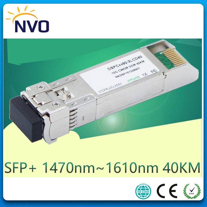 CWDM-SFP+-ER 10G CWDM 40KM SFP FiberTransceiver,Dual Fiber,LC,1470nm~1610nm,20nm Uncooled CWDM SFP+ Transceiver  Module With DDM