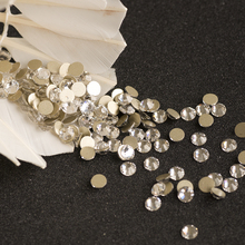 2028NoHF SS8 1440Pcs Non Hotfix Glass Rhinestones Clear Crystal For 3D Nail Art Decoration Flatback Strass Stone