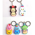 1PCS Mickey Keychain Bear Minion Cartoon Keychain Buzz Lightyear Stitch Jewelry Head Cover Key chain Anime Keyring
