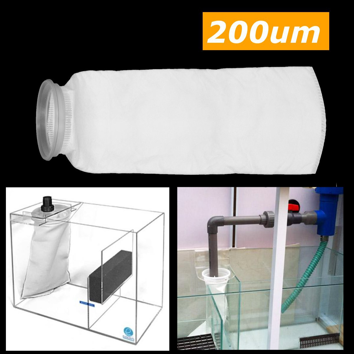 Fish Tank Filter Mesh Bag 4 Inch Fish Aquarium Marine Sump Filter Pre Filter Sock Bag Water Purifier Parts Aquarium