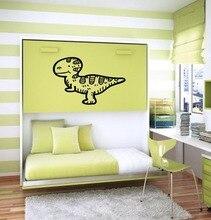 цена на Wall Decal Vinyl Sticker T rex Tyrannosaurus Rex Lovely Cartoon Dinosaur Nursery Baby Girl Boy Kids Room Bedroom Decor WW-324