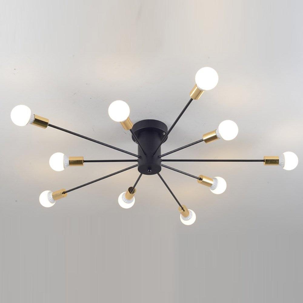 Creative Iron Spark Living Room Ceiling Lamp Bedroom Spider Ceiling Light Modern Nordic American Corridor Ceiling Light Fixtures