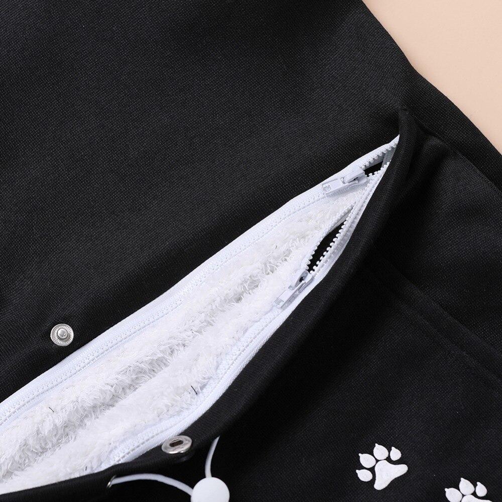 17 New Cartoon Hooded Hoodies Lover Cats Kangaroo Dog Hoodie Long Sleeve Sweatshirt Front Pocket Casual Animal Ear Hoodie 37