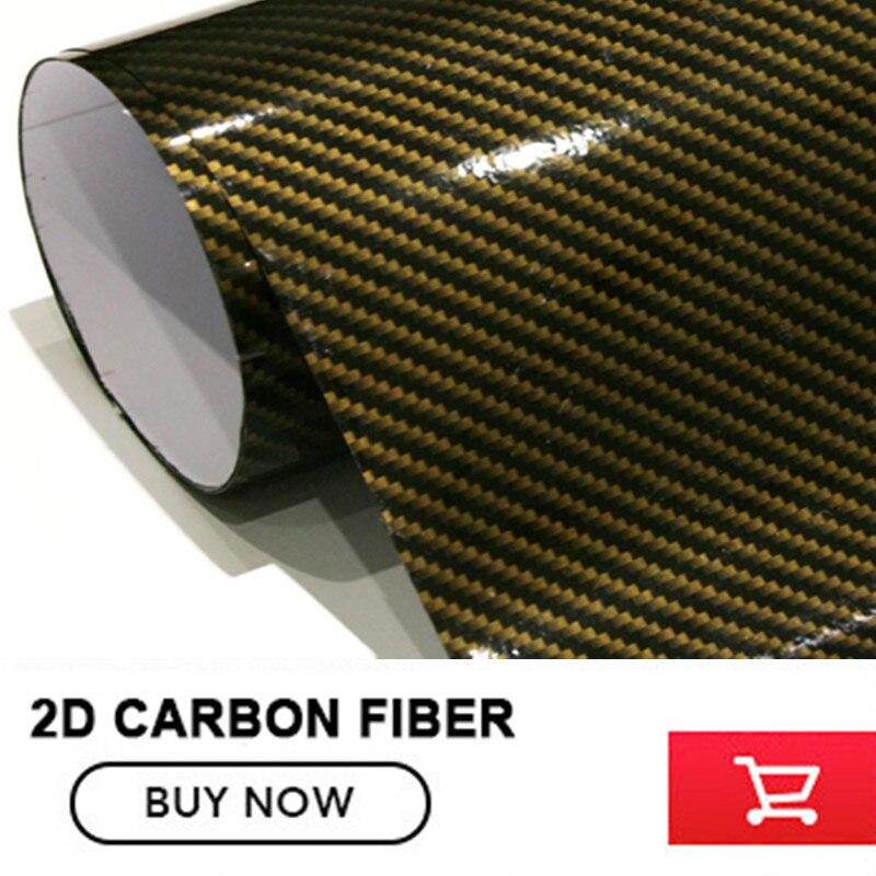 2D Carbon Fiber Vinyl Film Car Sticker Wrap Gold Black For Truck SUV Car Tailgate Roof Bumper free стоимость