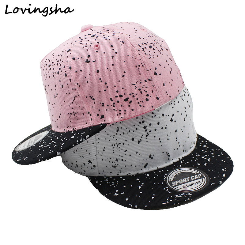 LOVINGSHA Boy   Baseball     Caps   3-8 Years Old Kid Dot Design Snapback   Caps   High Qaulity Adjustable   caps   For Girl CC073