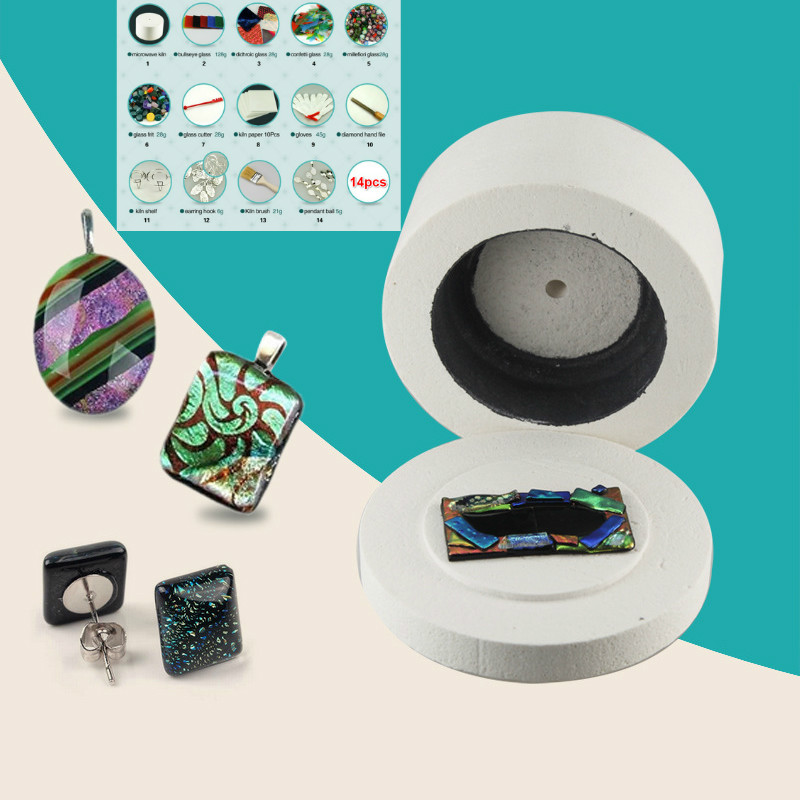 14pcs/set Extra Large Microwave Kiln Set Arts Crafts Sewing DIY Jewelry Glass Fusing Kilns for Ceramic Accessories