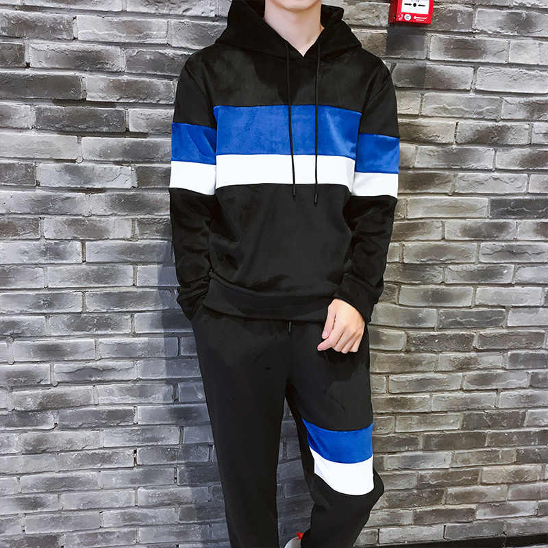 4a0fe924 ... Loldeal Mens Velour Tracksuit Men Tracksuit Sporting Suits Embroidery  Hoodies+Pants Casual Fashion Sweatshirt Sweat ...