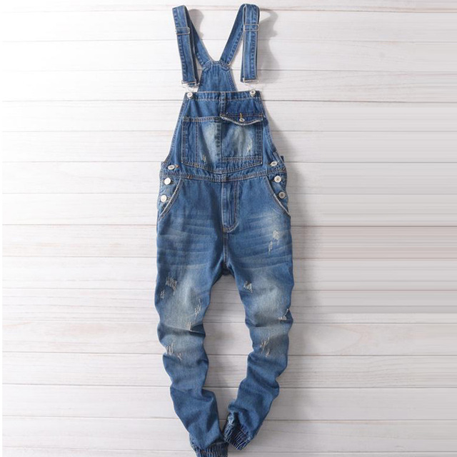 70cd29c38331 Spring Summer Preppy Style Casual Man s Slim Jeans Overalls
