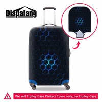 Dispalang Hexagon Pattern Male Waterproof Travel Suitcase Cover Anti Dust Trolley Case Cover Boys Stretch Elastic