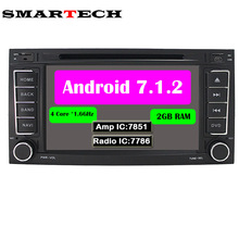 SMARTECH 4 Core Android 7.1.2 Für VW Volkswagen Touareg Auto DVD-Audio-Player GPS Mit Canbus Wifi GPS Navigation Bluetooth Radio