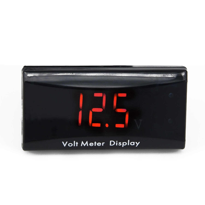 Affichage voiture voltmètre voiture moto jauge de tension DC 8V ~ 16V voltmètre Volt mètre LED mode