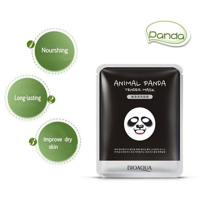 BIOAQUA 1 pcs Skin Care Sheep/Panda/Dog/Tiger Facial Mask Moisturizing Cute Animal Face Masks 1