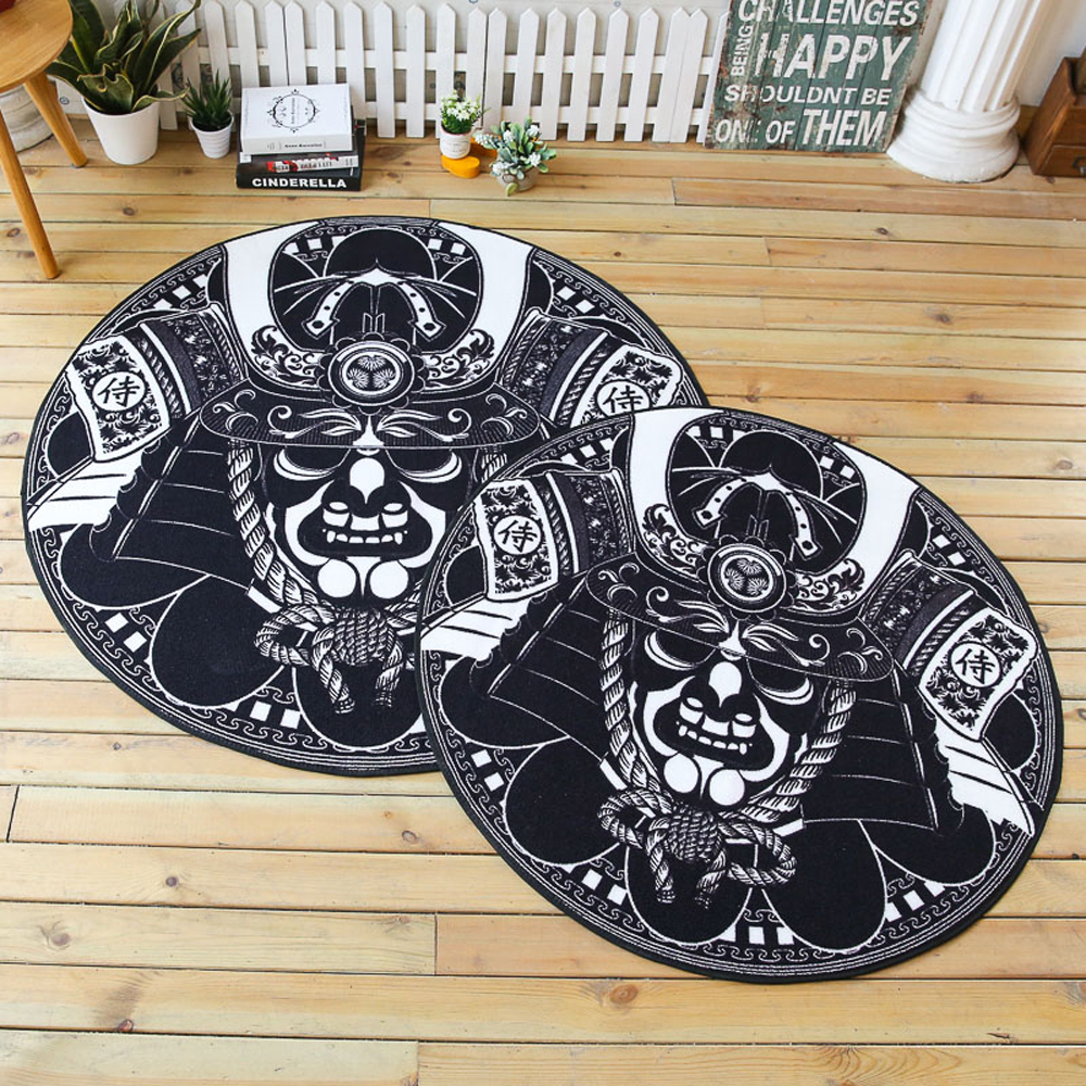 Black skull chair - Simple Black White Home Round Rug And Carpet For Living Room Bedroom Area Rugs Non Slip Absorbent Floor Mat Chair Mat Doormats