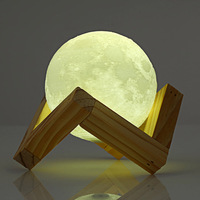 1pcs Rechargeable 3D Print Moon Lamp Touch USB LED Night Light Moon Light Desk Night Light