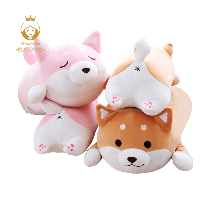Cute Shiba Inu Plush Stuffed Toys, Super Soft Chai Dog plush Pillow, Dog Ass Pillow, Children's Toys, Christmas Gifts cartoon dog plush pillow shiba inu toys for children gift contain plush flannel blanket bedroom cushion