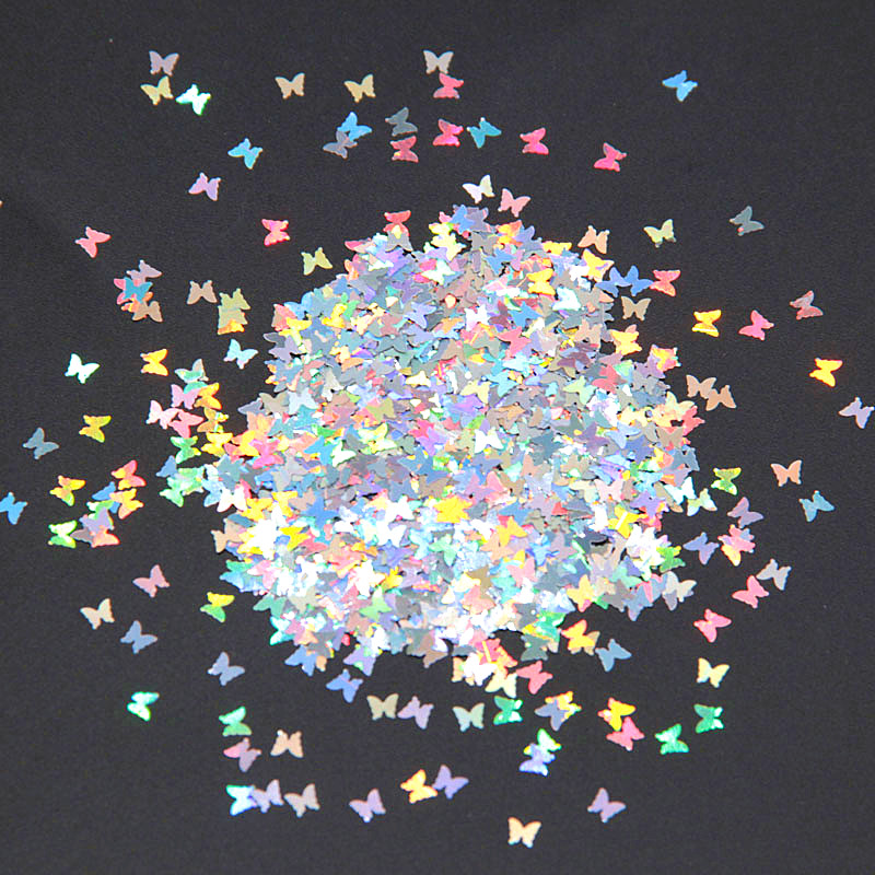 Ultrathin 3mm Butterfly Sequins Laser Glitter Nail Sequin Paillettes Eo Friendly font b PET b font