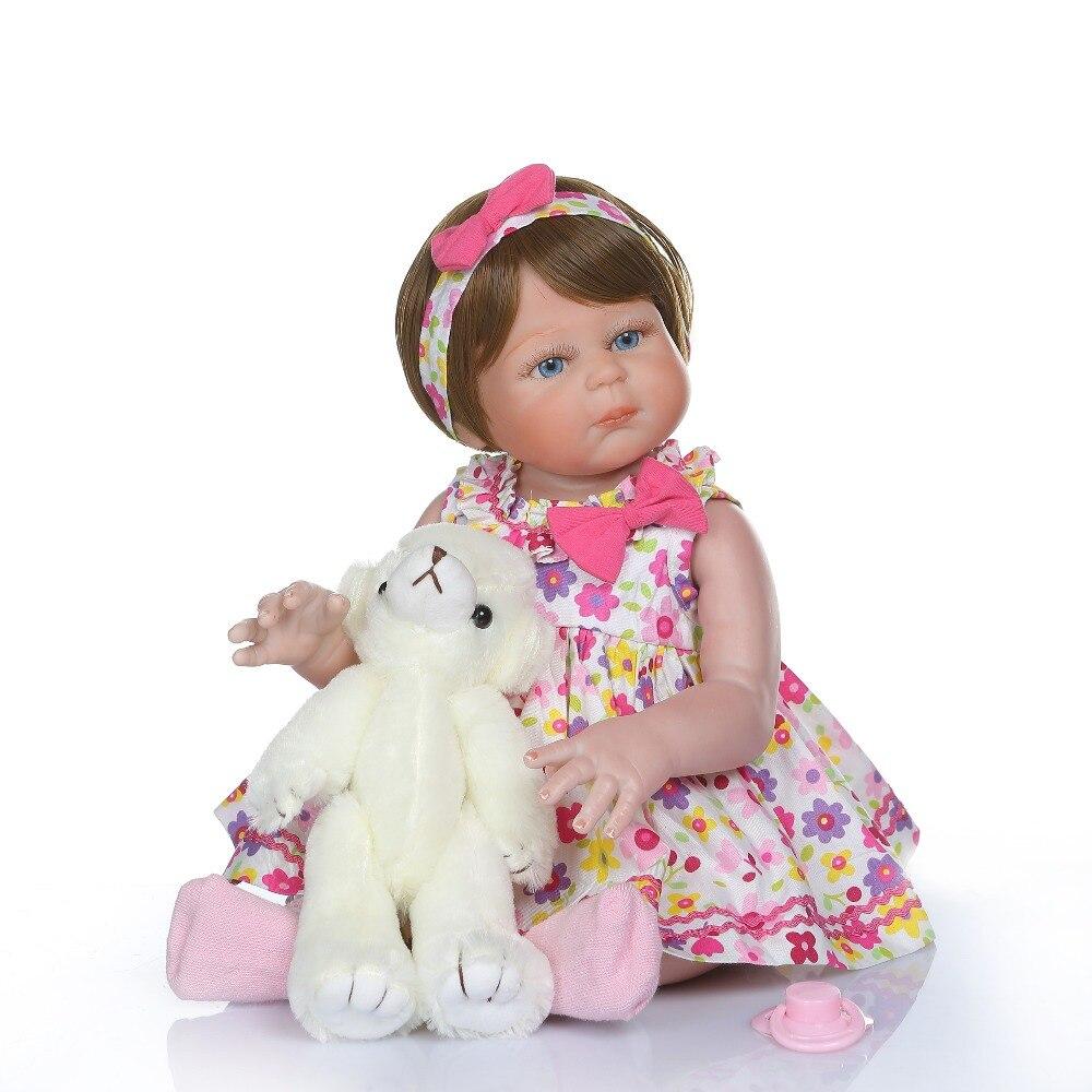 NPKCOLLECTION 48 CM bebe lalki reborn dziewczyna maluch całego ciała silikonu zabawki do kąpieli 100% ręcznie szczegółowe paiting pinky wygląd w Lalki od Zabawki i hobby na  Grupa 3