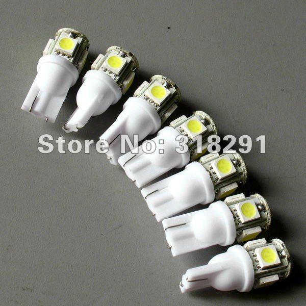 100 шт./лот T10 5 SMD 5050SMD автомобиля 194 168 192 W5W светодиодный свет Автомобильные лампы светодиодные лампы 12 v