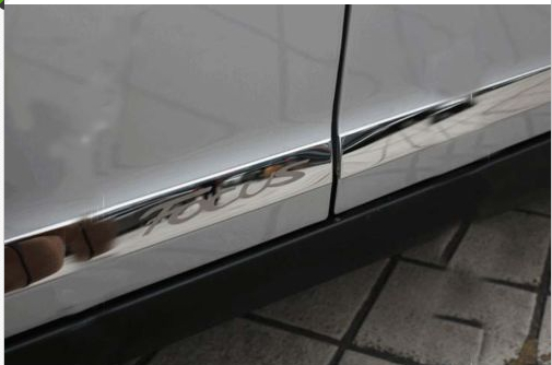 ФОТО Stainless Steel Body door Side Molding trim Chrome For Ford FOCUS 2012 2013