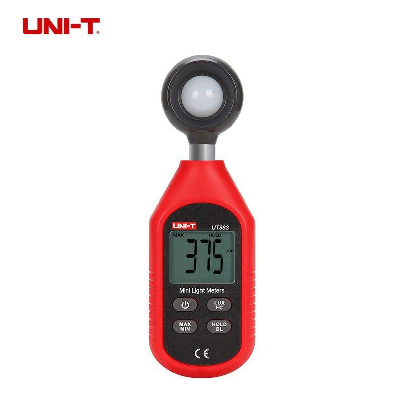 UNI T UT383 Digital Luxmeter Light Meter Lux FC Meters Luminometer Photometer 200 000 Lux in Level Measuring Instruments from Tools