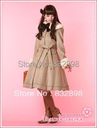 Aliexpress.com : Buy Custom Made Hot Sale Japan Beige Wool Hooded ...