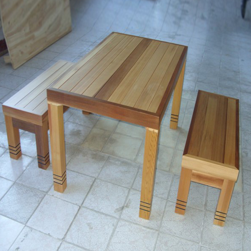 Long Table Bench Benches Wood Furniture Outdoor
