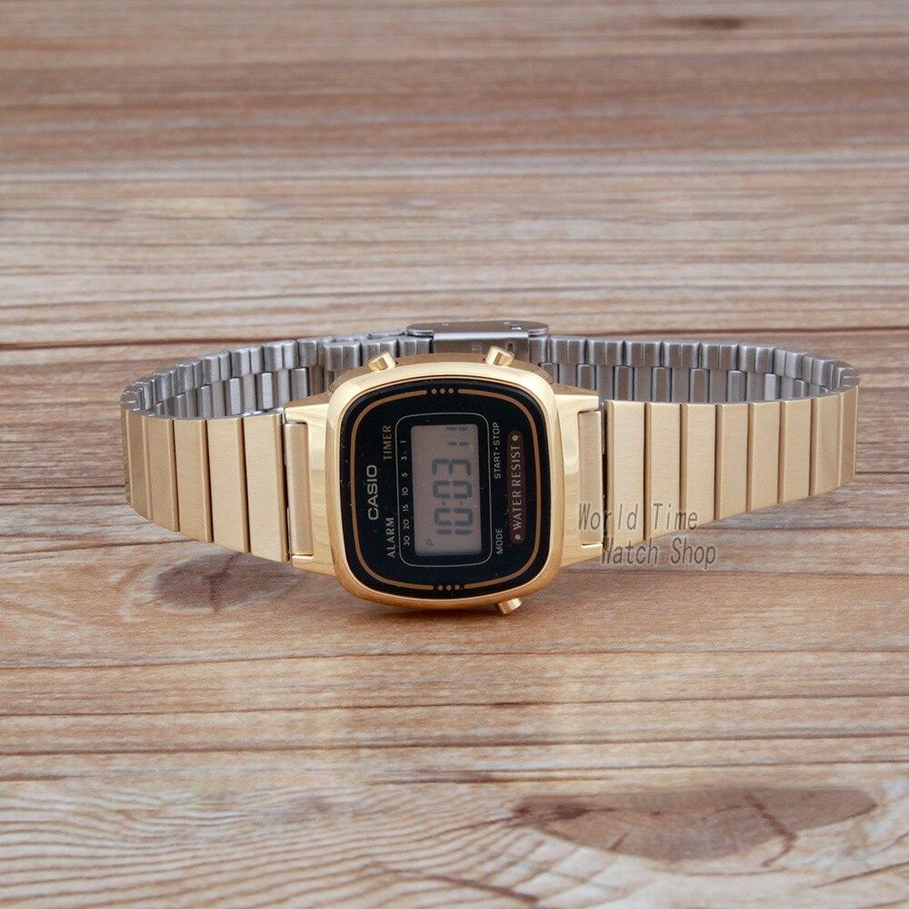 8dffdedff45 Casio relógio Analógico Esportes Relógio de Quartzo Dos Homens e das  Mulheres Do Vintage de ouro quadrado relógio casal em Amante de Relógios de  Relógios no ...