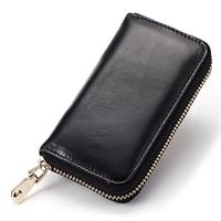 Lomelobo Hot Men & Women Oil Wax Genuine Leather key wallets multifunction keys case coin wallets 6 Key Rings HCL3375