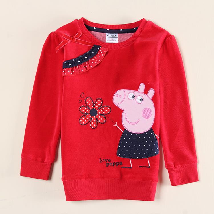 Nova kids girl wear children shirts new design girls t for Newborn girl t shirts