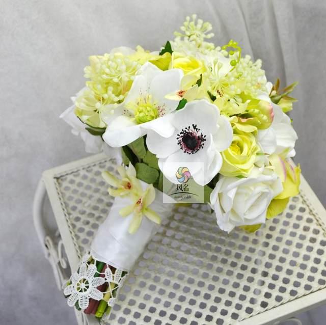Online Shop Handmade Wedding Floral Bridal Bouquet Bride Bouquet ...